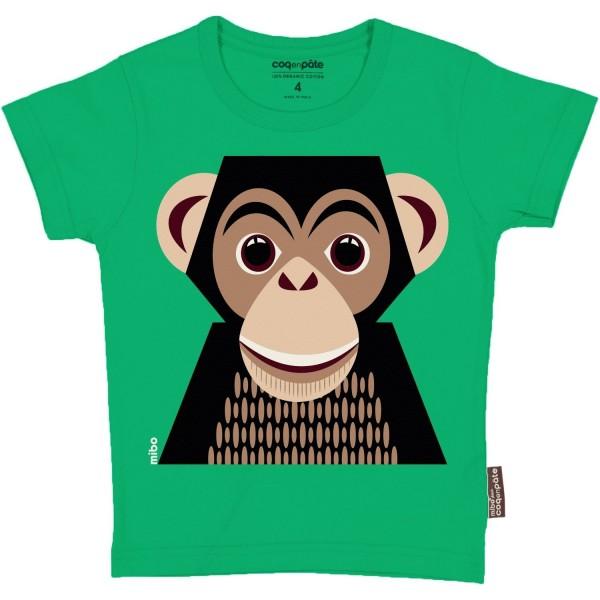 Kurzarm T-Shirt Schimpanse