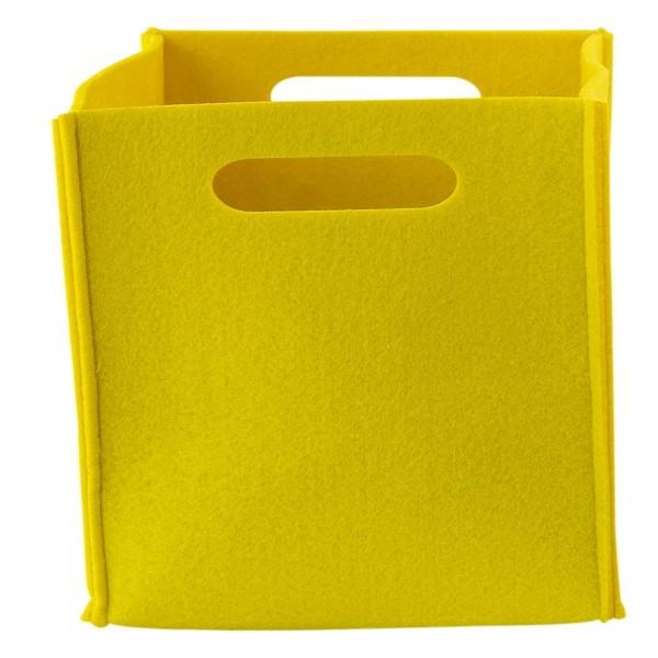 Filz Aufbewahrungsbox gelb klein