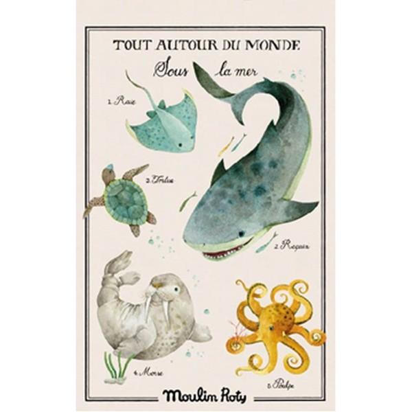 Poster Tout autou du monde Meer