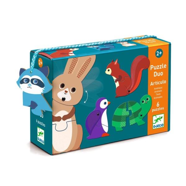 Duo Puzzle: Articulo Animals 2+