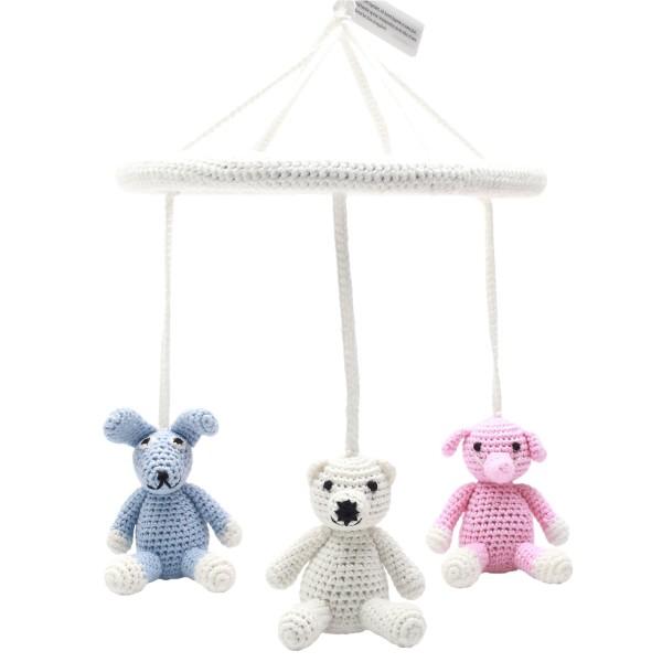 Mobile - Elefant, Eisbär und Hase