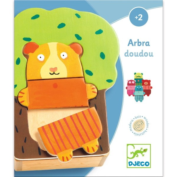 DJECO Holzpuzzle Abra Doudou