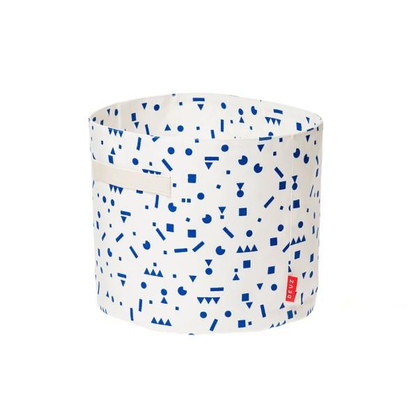 Baumwollkorb blaue Sticker