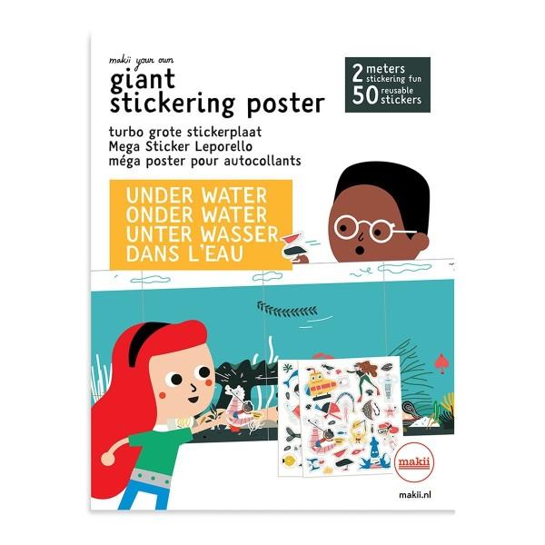 Mega Sticker Leporello Wasser
