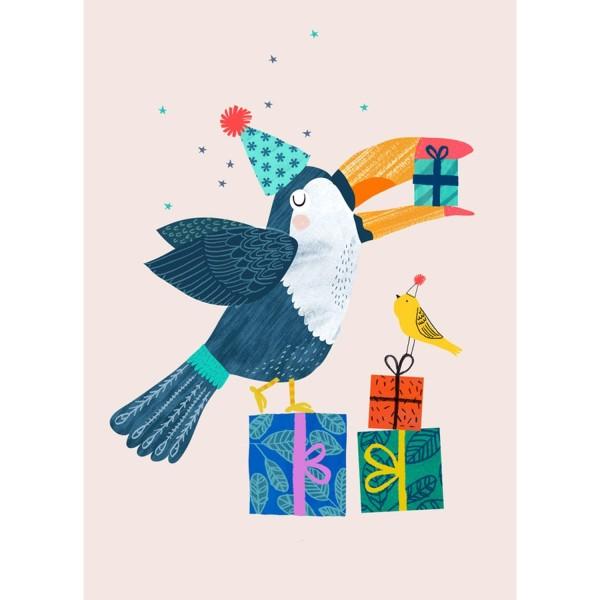 Geburtstagskarte Tukan