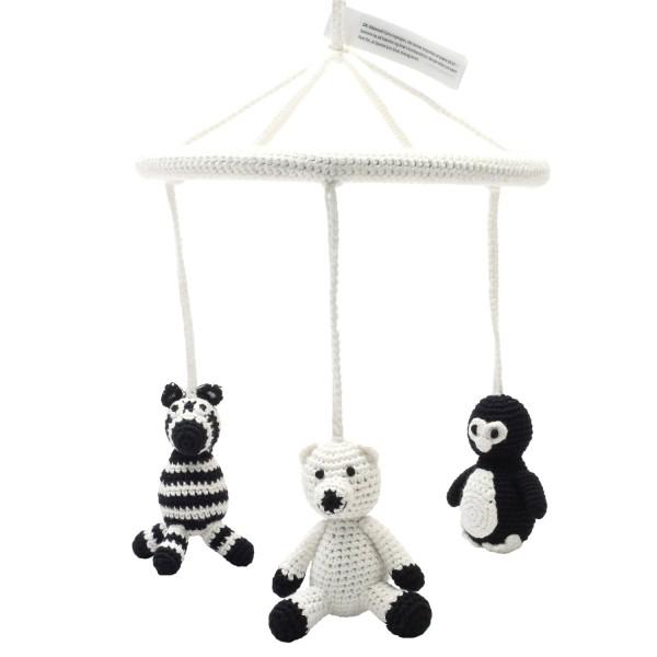 Mobile - Pinguin, Eisbär und Zebra