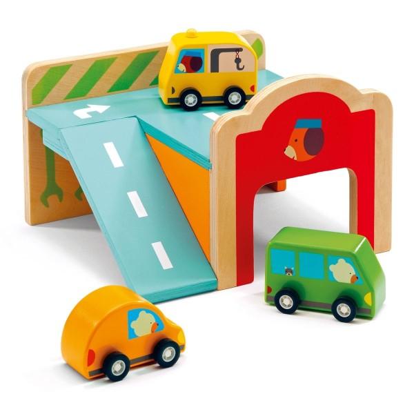 Minigarage mit Fahrzeugen