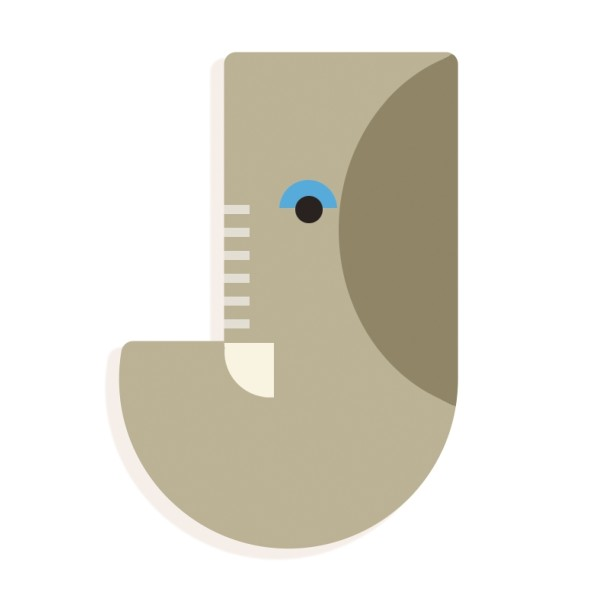 Tierbuchstabe J