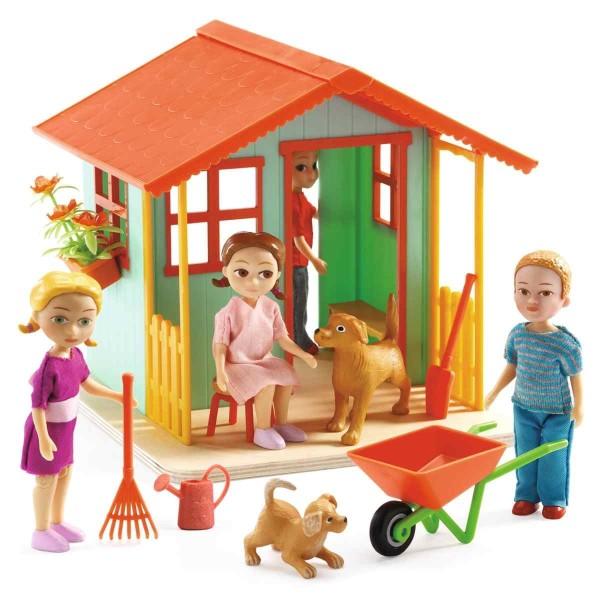 DJECO Puppenhaus: Gartenhäuschen