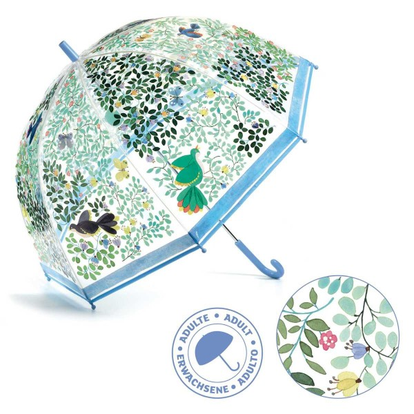 DJECO Regenschirm Wilde Vögel