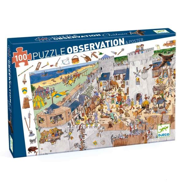 Puzzle Wimmelbild Burg - 100 Teile