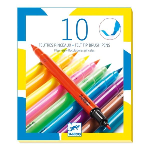DJECO Farben: 10 Filzstifte - Pop colours