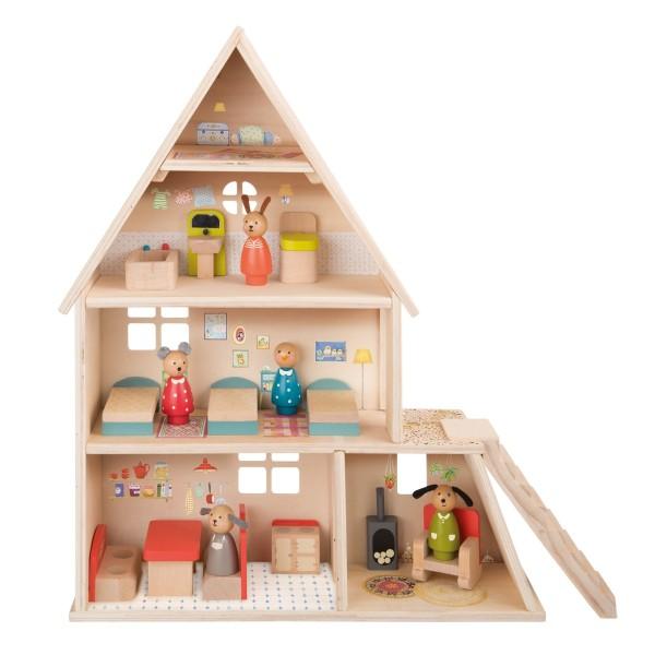 Puppenhaus möbiliert La Grande Famille