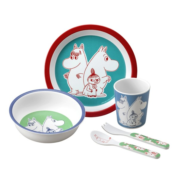 5-teiliges Service Moomin