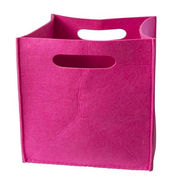 Filz Aufbewahrungsbox pink groß