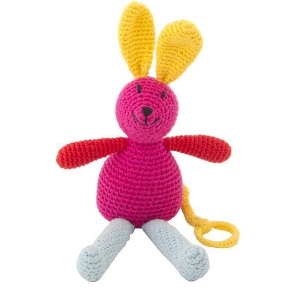 Spieluhr Hase rosa