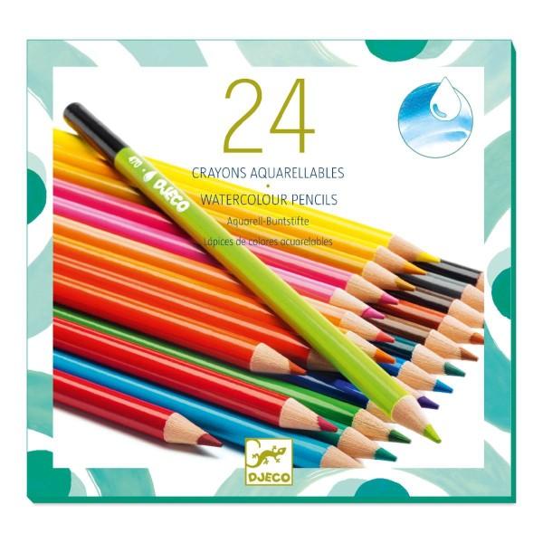 DJECO Farben 24 Aquarellstifte