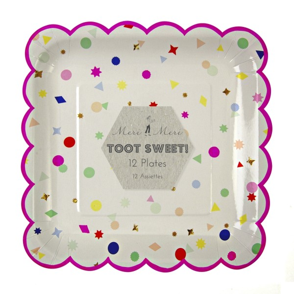 Toot Sweet charms Pappteller Groß