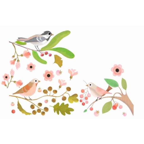 Fenstersticker Romantische Vögel