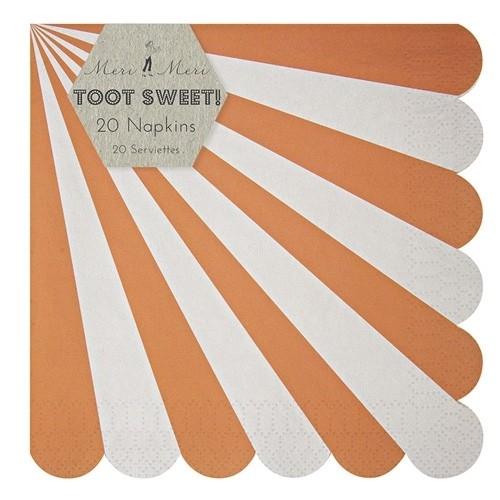 Toot Sweet orange Papierservietten, groß