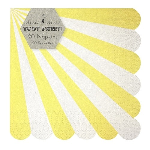 Toot Sweet Servietten yellow, klein
