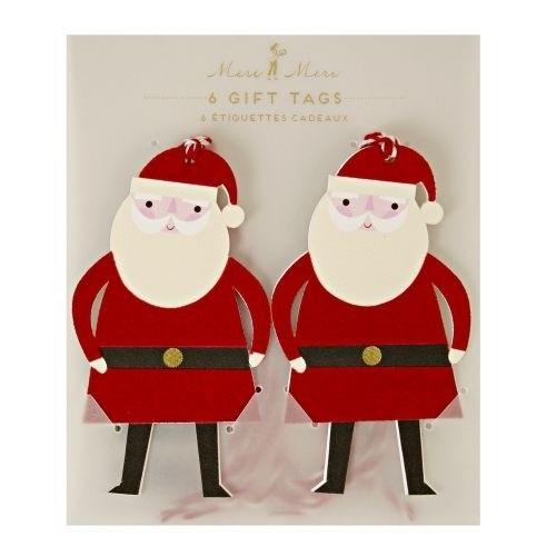 MERI MERI Gift Tag Santas