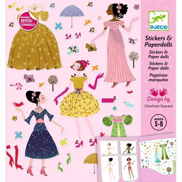DJECO Stickerpuppen: Kleider 4 Jahreszeiten