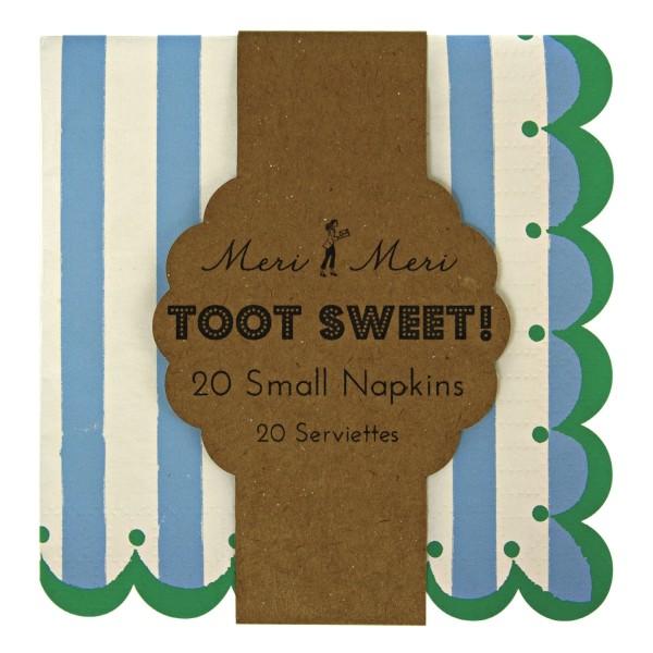 Meri Meri Toot Sweet Blau Papierservietten