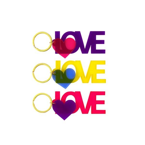 Schlüsselanhänger LOVE sort.