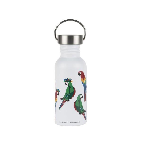 PETIT JOUR Edelstahl Flasche 0,5L Papagei