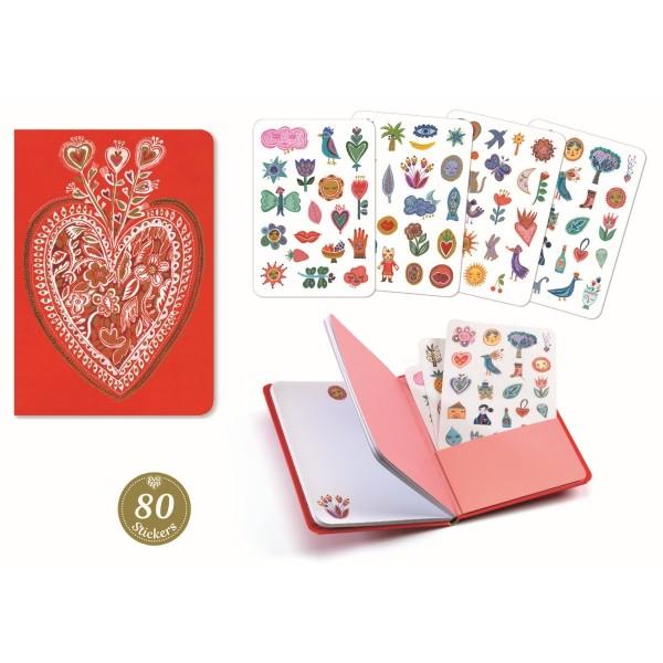 Notizbuch mit Stickern: Aurelia