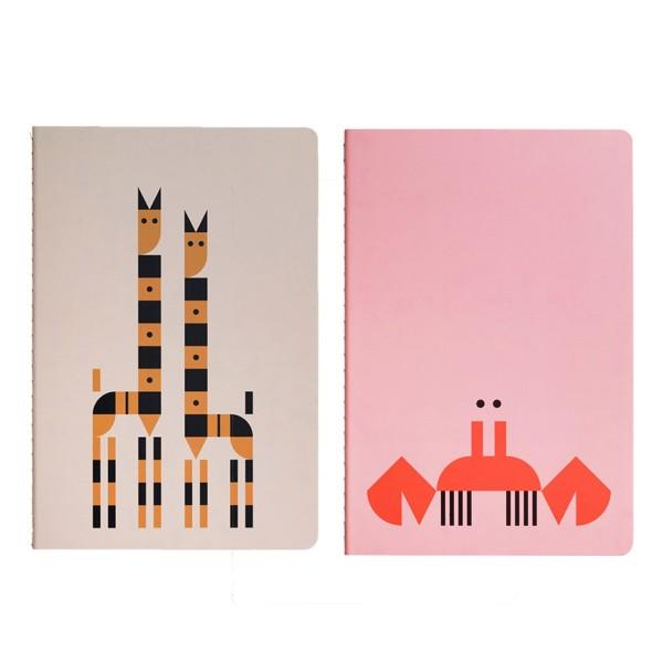 Notizheft Plentimals Krabbe&Giraffe