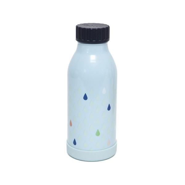 Edelstahl Trinkflasche blau