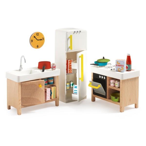 DJECO Puppenhaus Einrichtung, Küche