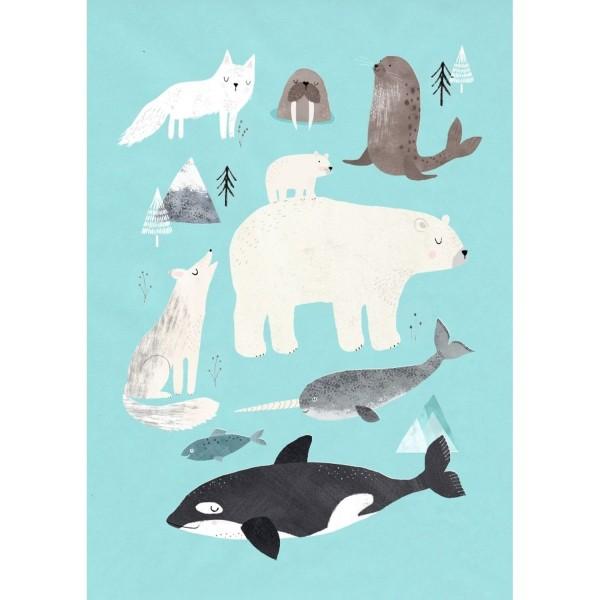"Postkarte ""Polartiere"""
