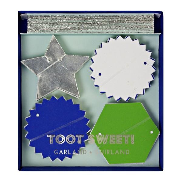Toot Sweet Mini-Girlande, blau