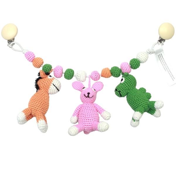 Kinderwagenkette - Esel, Hase und Kamel