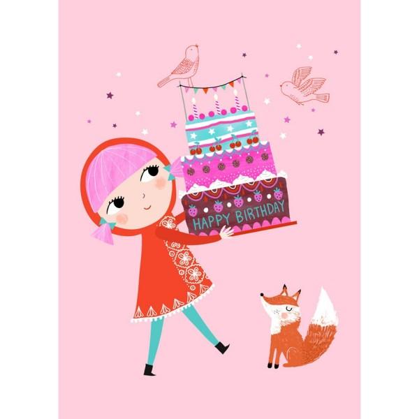 Postkarte Geburtstagskuchen