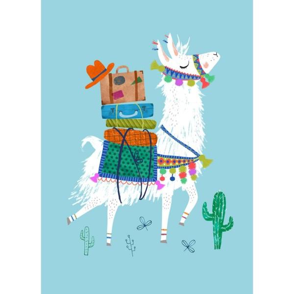 Postkarte Lama