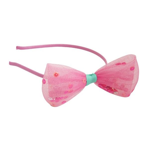 Haarreif Schleife Pink