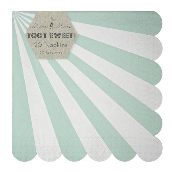 Toot Sweet aqua Papierservietten, groß