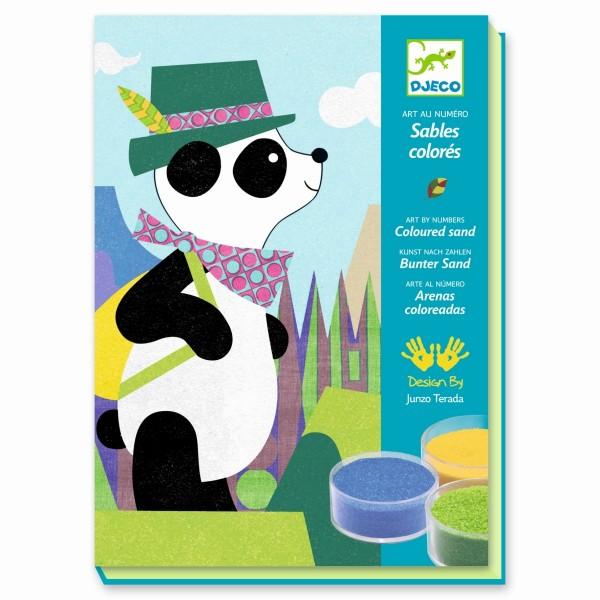 Sandbild Panda & Freunde