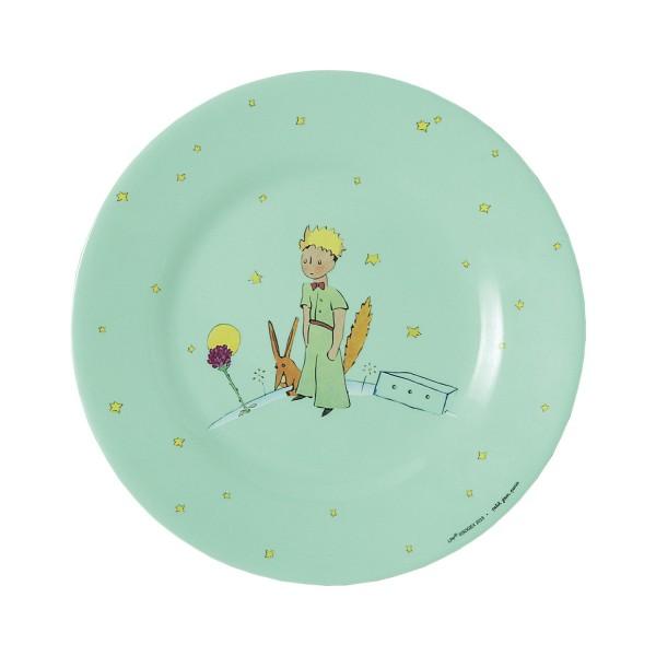 Melamin - Dessertteller grün Der kleine Prinz