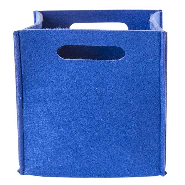 Filz Aufbewahrungsbox blau klein