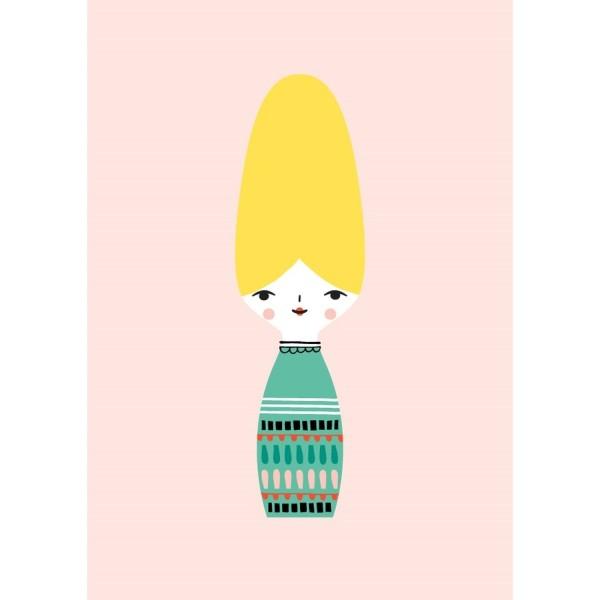 Postkarte Bienenkönigin