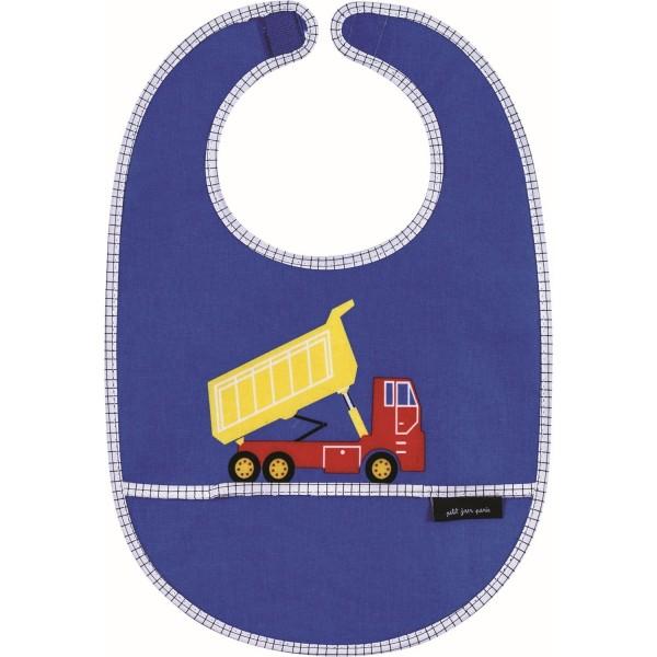 Lätzchen blau Baufahrzeug