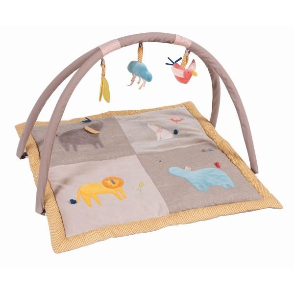 Spieldecke mit Baby-Gym les Papoum