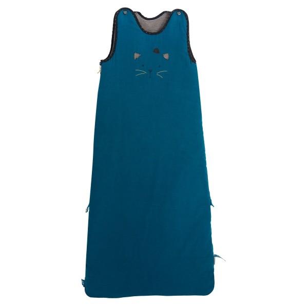 Baby Schlafsack Katze blau 90/110 cm