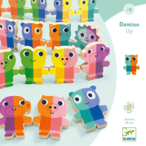 Holz Lernspiele: Domino Up