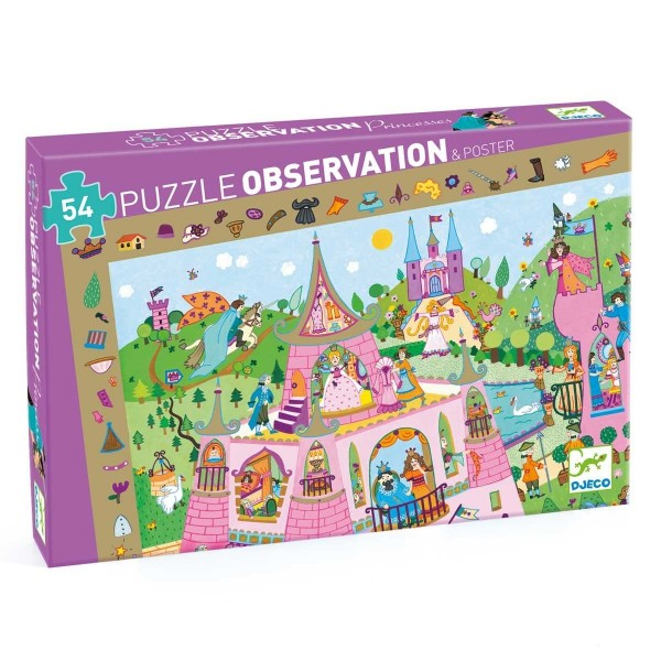 Puzzle Wimmelbild Prinzessin - 54 Teile
